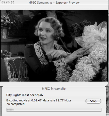 """MPEG Streamclip - Exporter Preview"" screen shot"